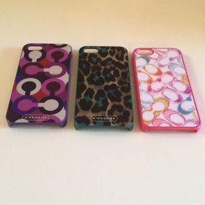 Bundle Of Three Coach Iphone Cases